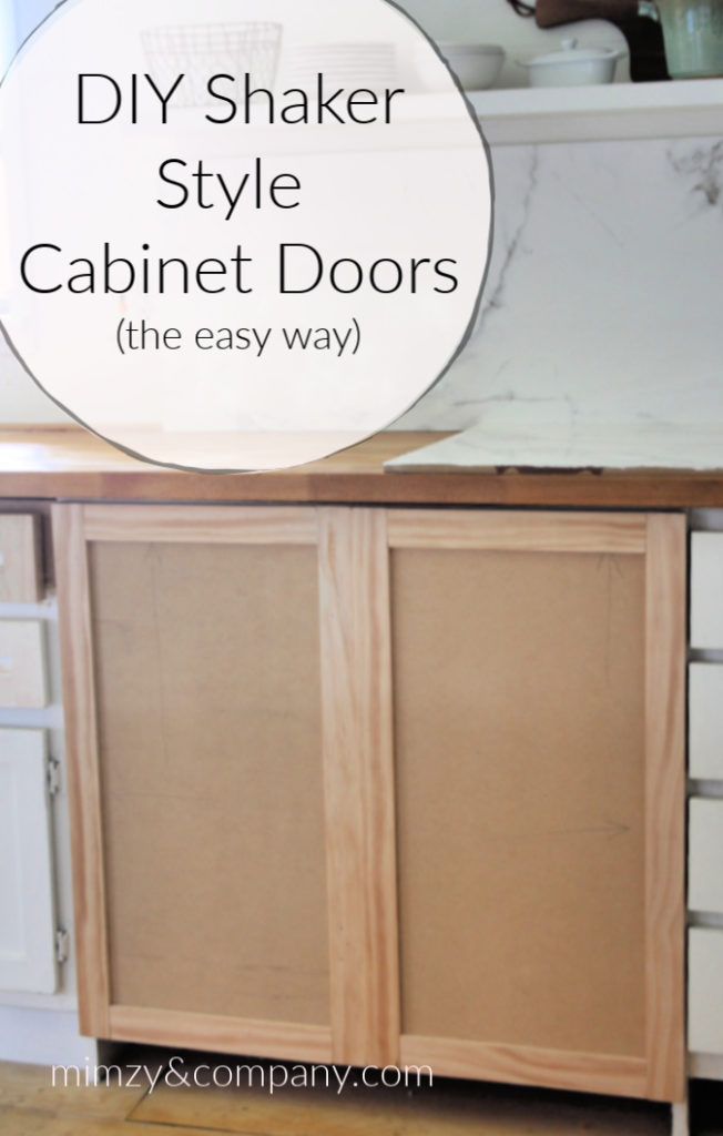 Diy Shaker Cabinet Doors The Easy Way Mimzy Company